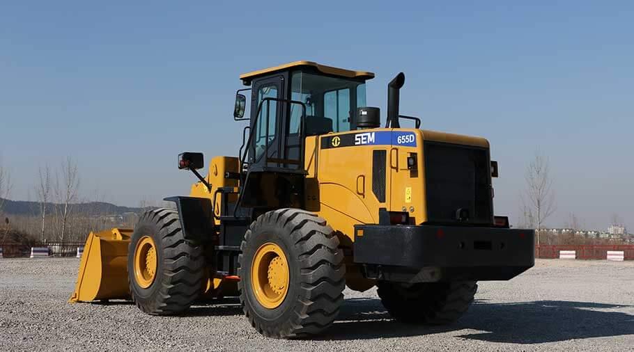 sem wheel loader 655d back view