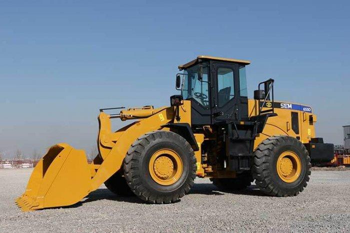 sem wheel loader 655d from caterpillar brand